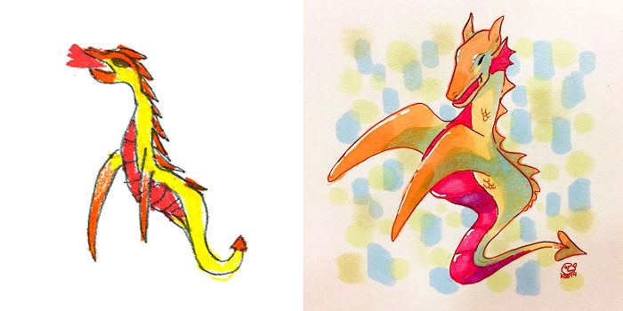 Artists From Around The World Have Drawn Hundreds Of Monsters Based On My Kids' Designs