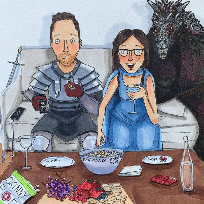 Artist Shows How Passionate Couples Behave When Nobody Sees Them (New Pics)