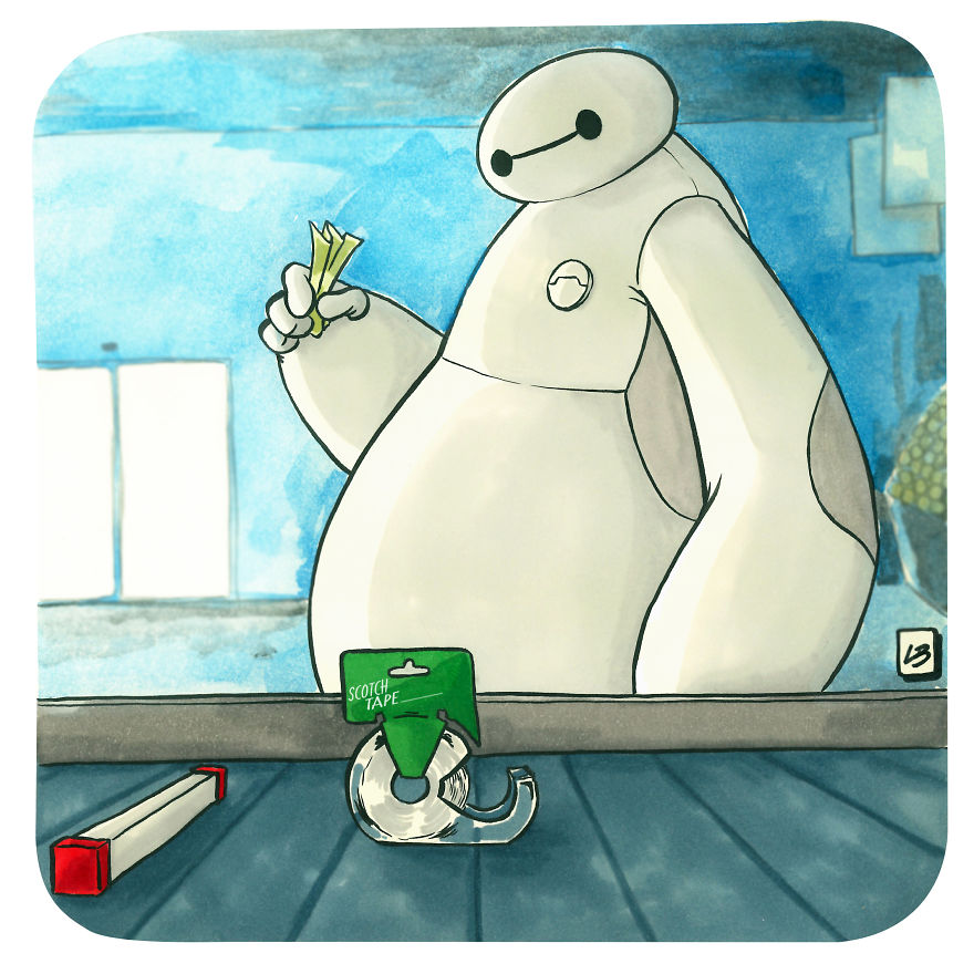 Baymax And Scotch Tape