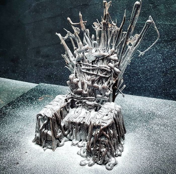 The Chocolate Throne. Filled With Bleeding Strawberry Coulis And Coated In Lustre