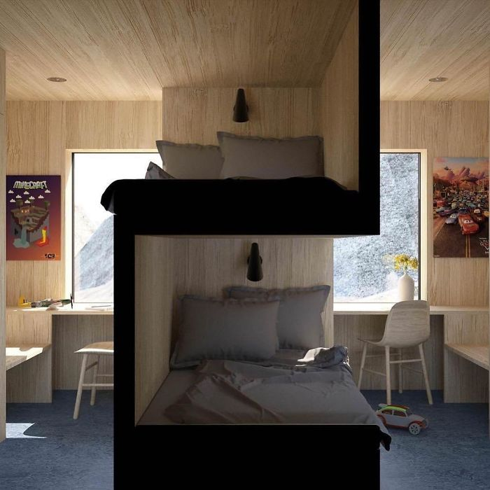 Sibling Bedroom By @vardehaugen_arkitekter