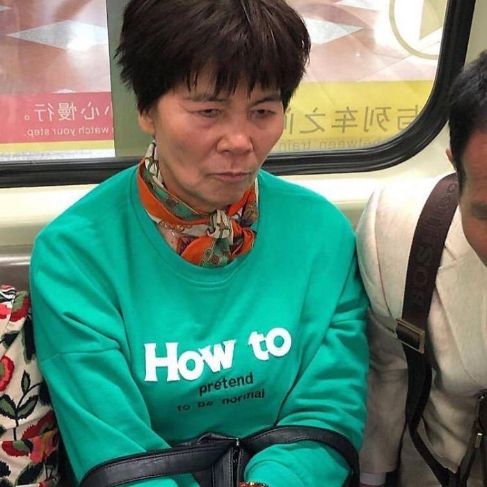 Look Miserable On Public Transit