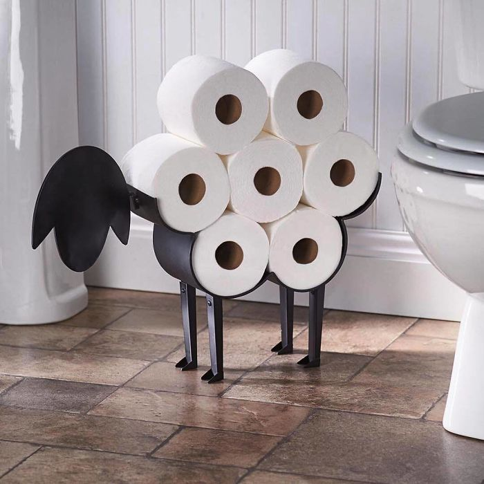 Sheep Toilet Paper Holder By Art & Artifact