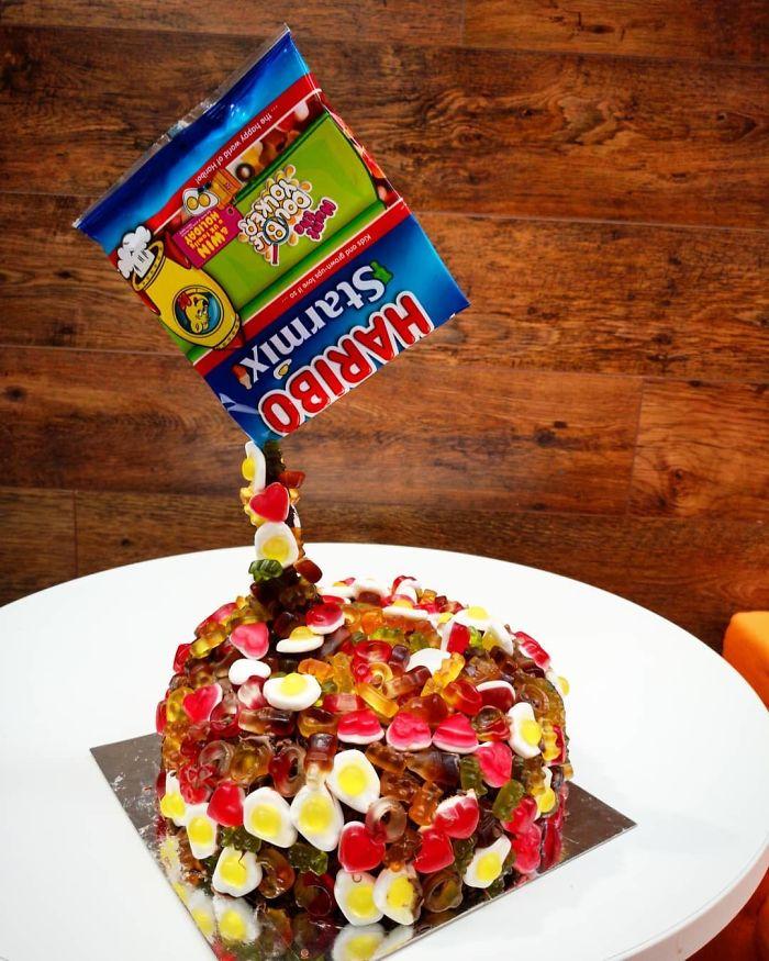 Haribo And Chocolate Birthday Cake
