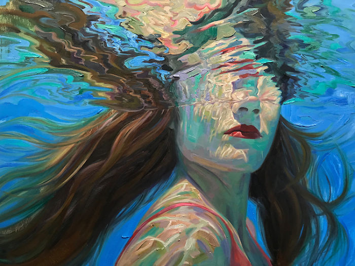 Californian Artist Isabel Emrich Paints Dazzling Depictions Of Women Submerged Underwater 🌊