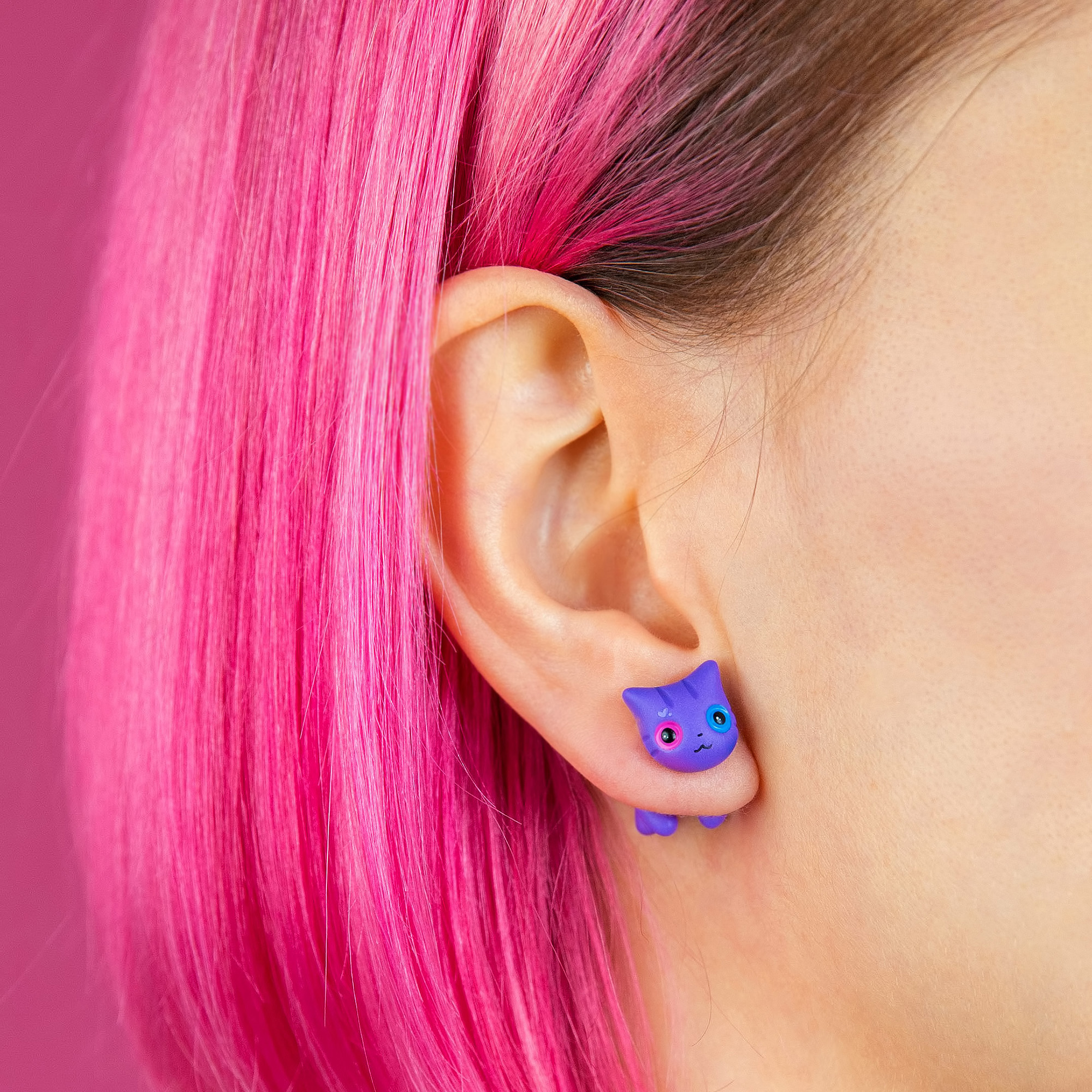 Happy Pride Month!🏳️🌈here Are 10 Lovely Cat Earrings That I Created To Celebrate The Season Of Pride!