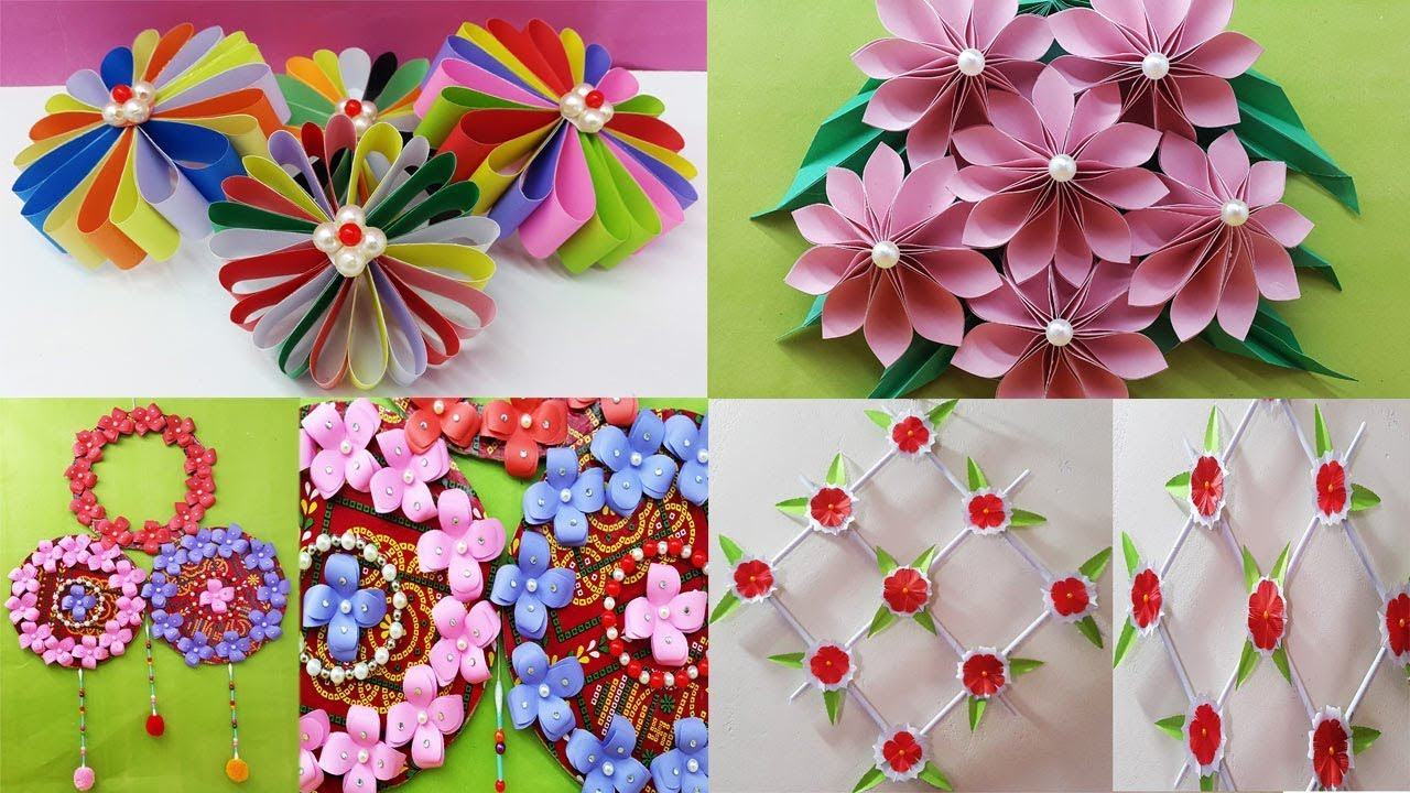 4 Easy Paper Flower Making For Decoration Ideas
