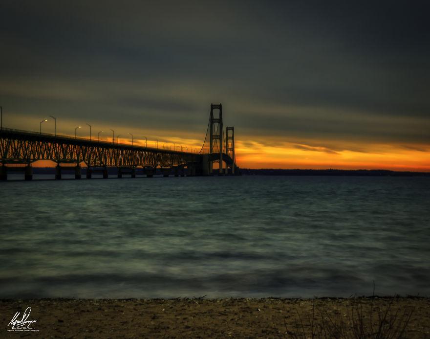 Mackinaw Bridge At Dawn