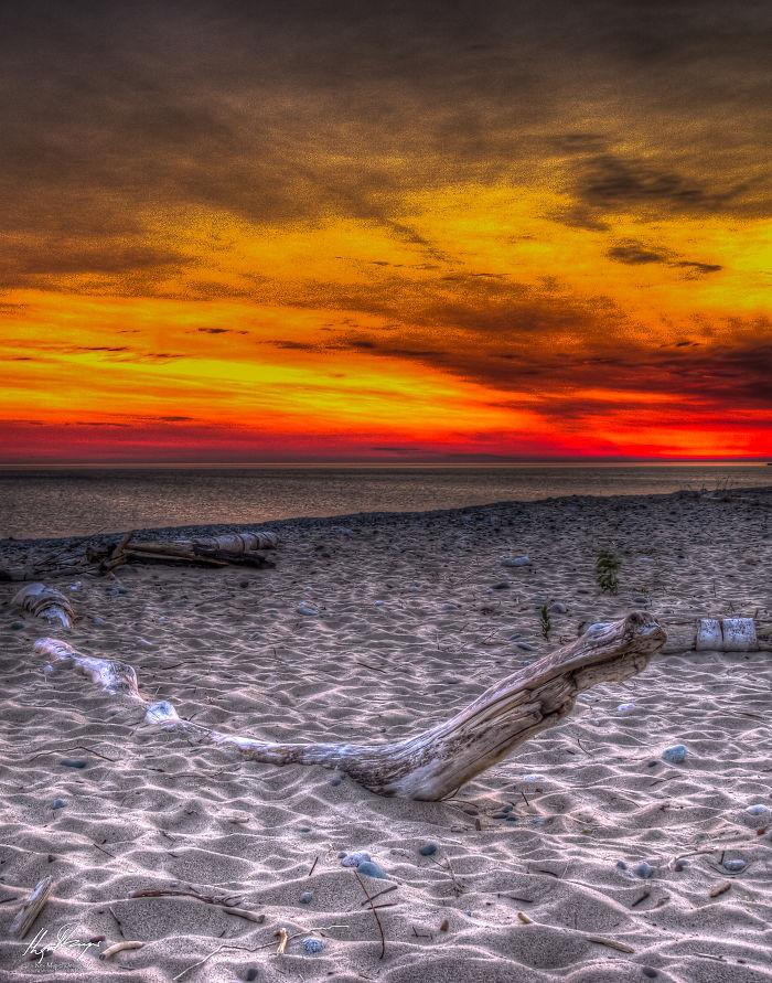 Sunrise At Grand Marais Beach