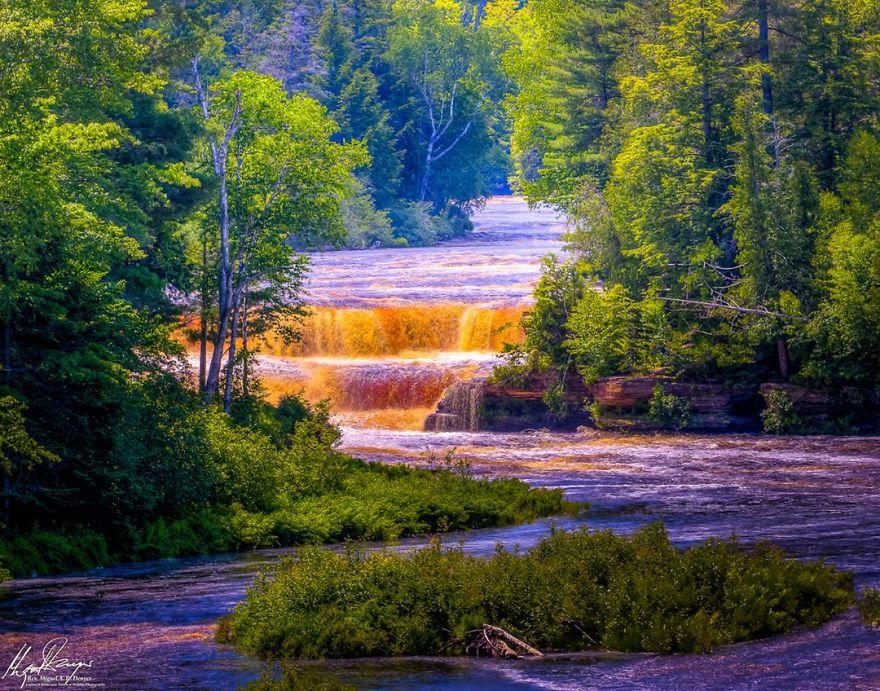 Lower Falls At Tahquamenon Falls, Paradise, Michigan