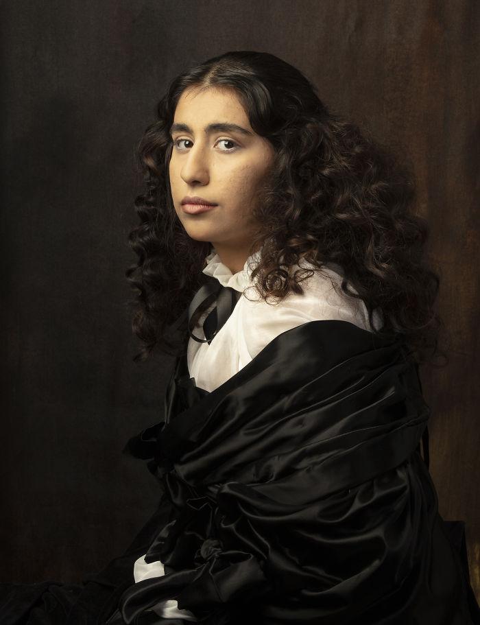 Reconstruction Of Kristina Of Sweden's Portrait Painted By Sebastien Bourdon