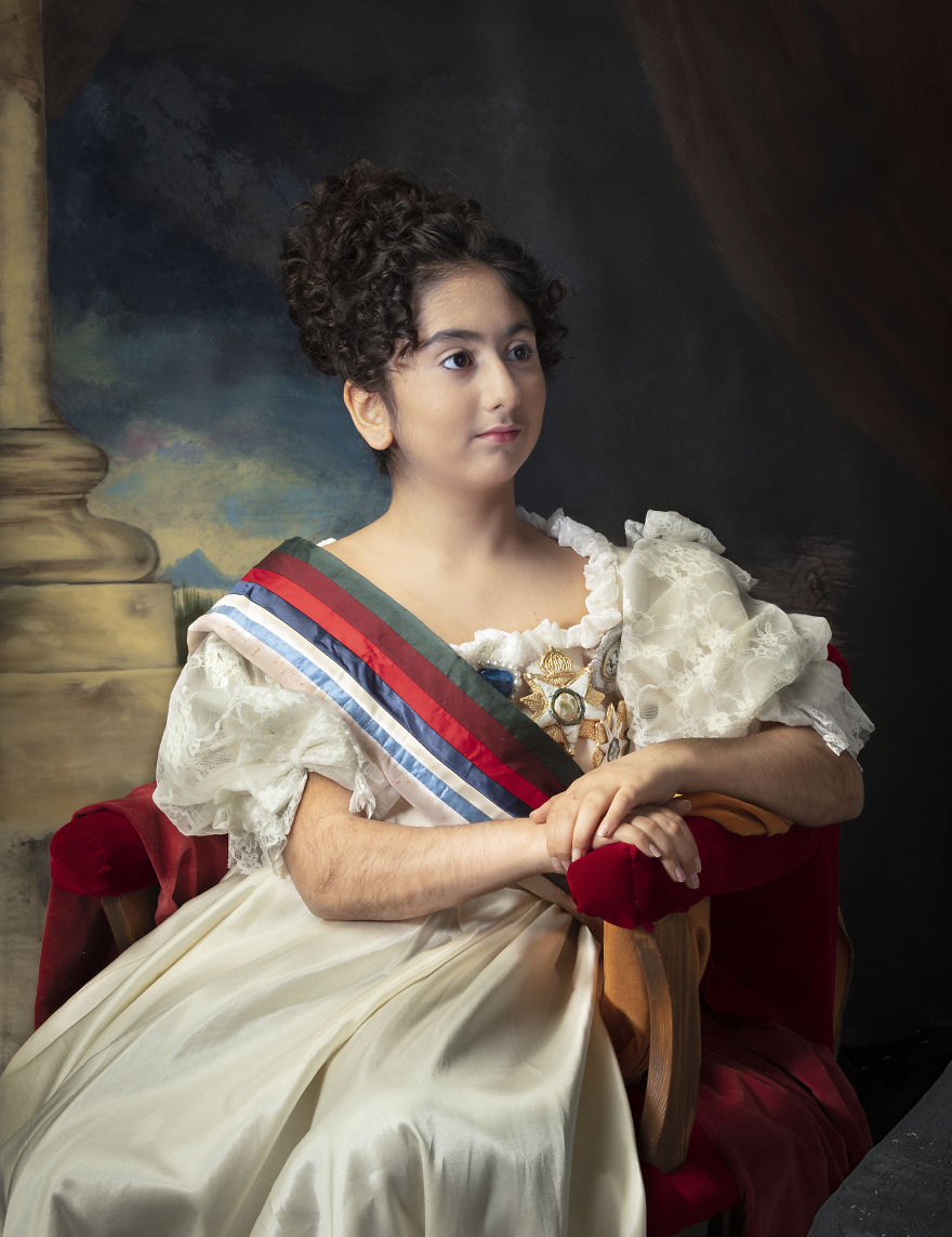 Reconstruction Of Maria Ii Of Portugal's Portrait Painted By Thomas Lawrence