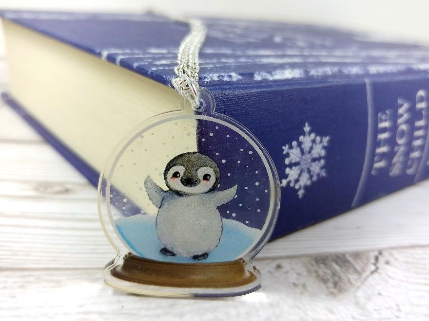 Penguin In A Snow Globe