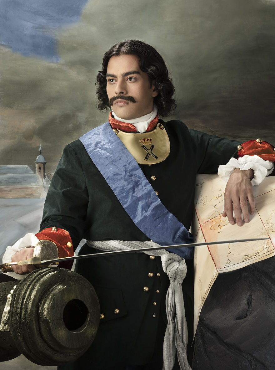 Reconstruction Of Peter The Great's Portrait Painted By Paul Delaroche