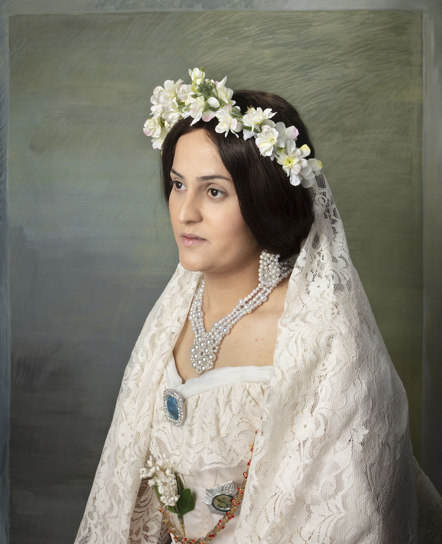 Reconstruction Of Queen Victoria's Portrait Painted By Franz Xaver Winterhalter