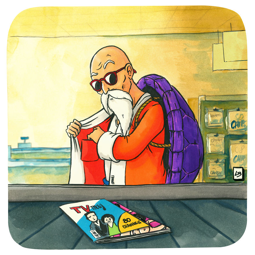 "Master Roshi And ""TV"" Magazine"