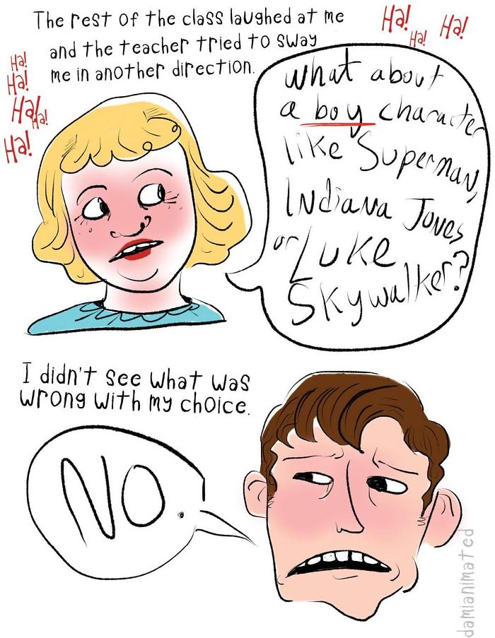Guy Illustrates How Boys Develop Sexism From Seemingly Small Interactions With Adults