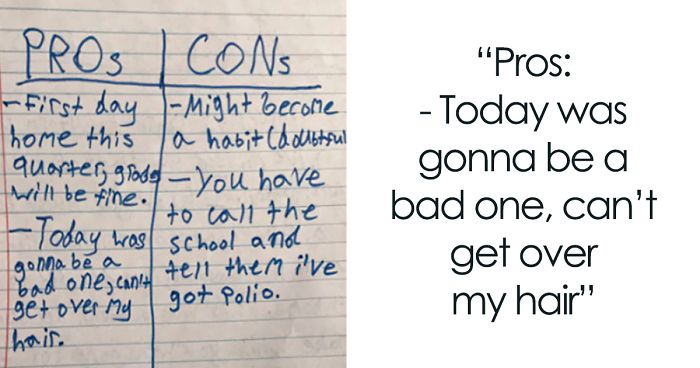 Boy Misses School Bus, Writes An Adorable Note To Mom Explaining Why