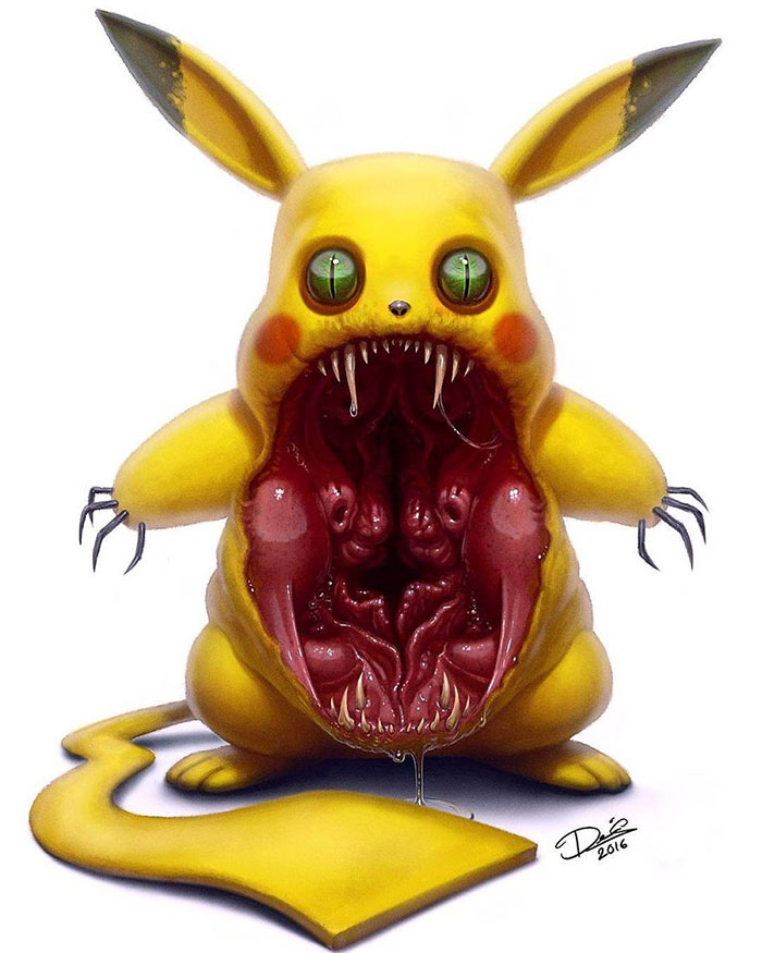 If Your Favorite Childhood Characters Were Turned Into Monsters (16 Pics)