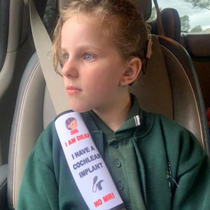 Mother Creates Seat Belt Covers That Would Warn Emergency Workers About Children's Health Issues
