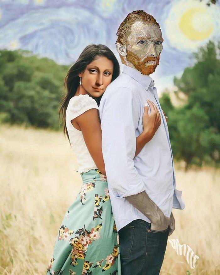 Mona Lisa And Vincent Van Gogh