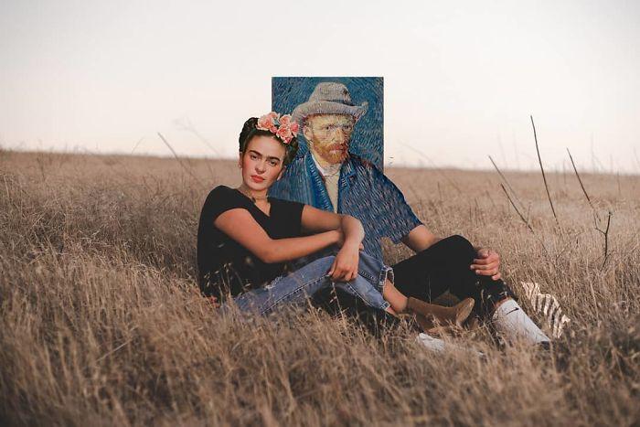 Vincent Van Gogh And Frida Kahlo