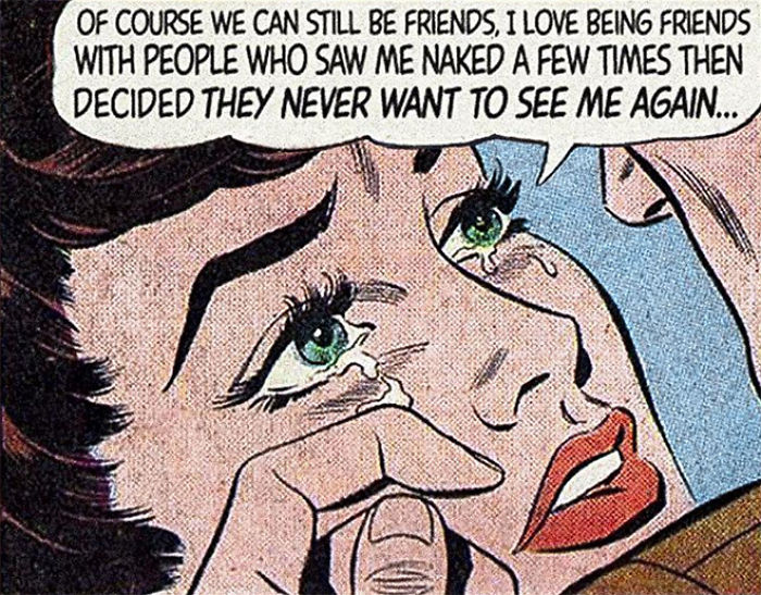 30 Vintage Comics Mashed With Disappointing Modern Love