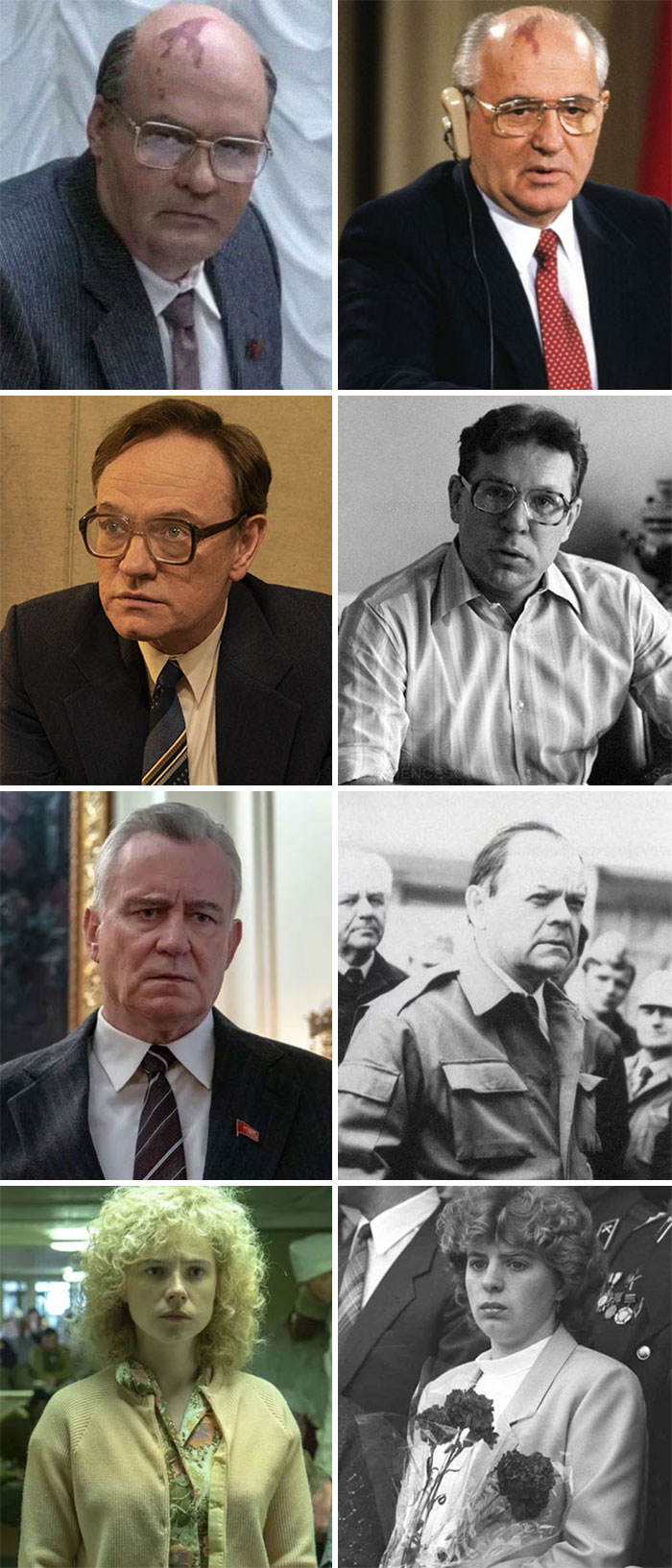'Chernobyl' Actors vs. The Real-Life People They Played