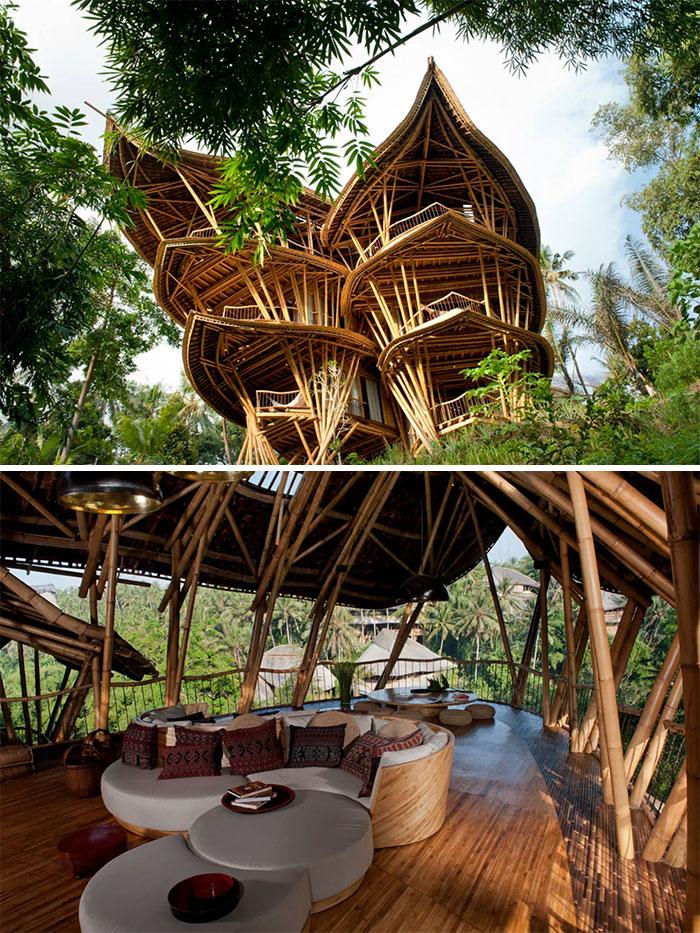 5 Floor Bamboo Palace In Abiansemal, Bali