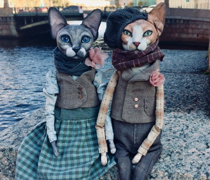 The Puppeteer From Saint Petersburg Creates Realistic Dolls Of Sphynx Cats