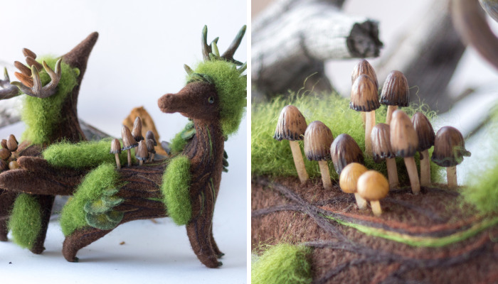 New Dragons And Fairy Creatures That I Felted This Year