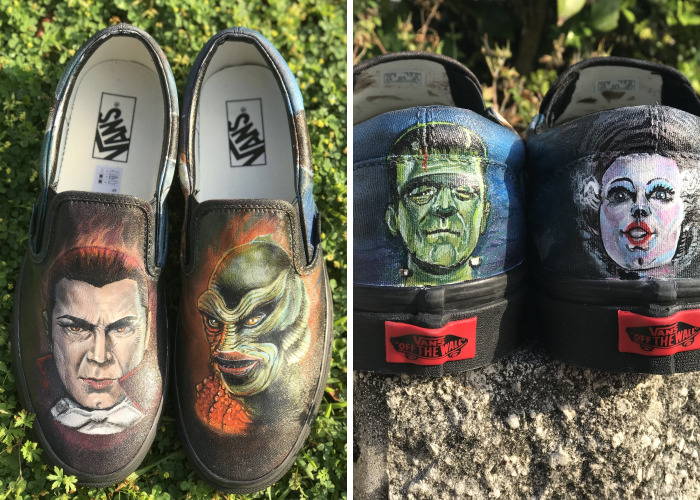 I Create Custom Painted Shoes