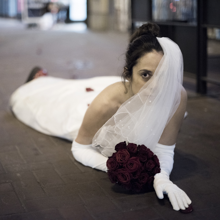 I Dressed As A Bride And Crawled On The Dirty Streets To Make A Statement About Immigration And Art Politics