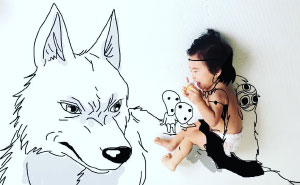 Japanese Father Of Two Draws On His Kids' Photos And The Result Is Adorable (50 Pics)