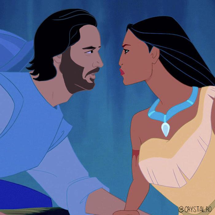 Artist Reimagines Keanu Reeves As 9 Disney Princes, Absolutely Nails It