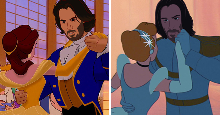 Artist Reimagines Keanu Reeves As 9 Disney Princes, Absolutely Nails It