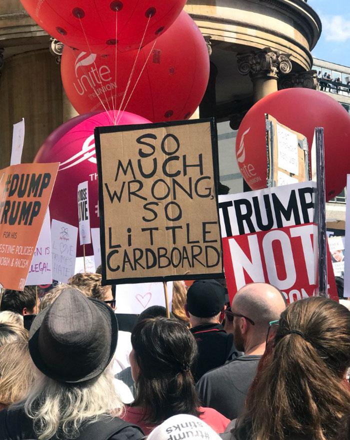 Trump Visit UK Response