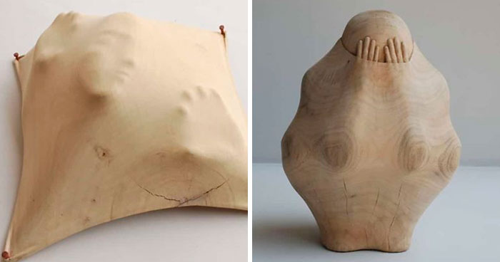 These Amazing Wood Sculptures Look Like There Are Figures Trapped Inside