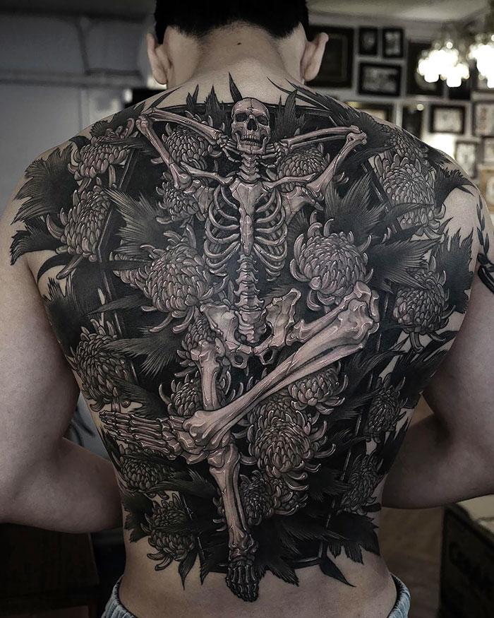 148 Amazing Full Back Tattoo Designs