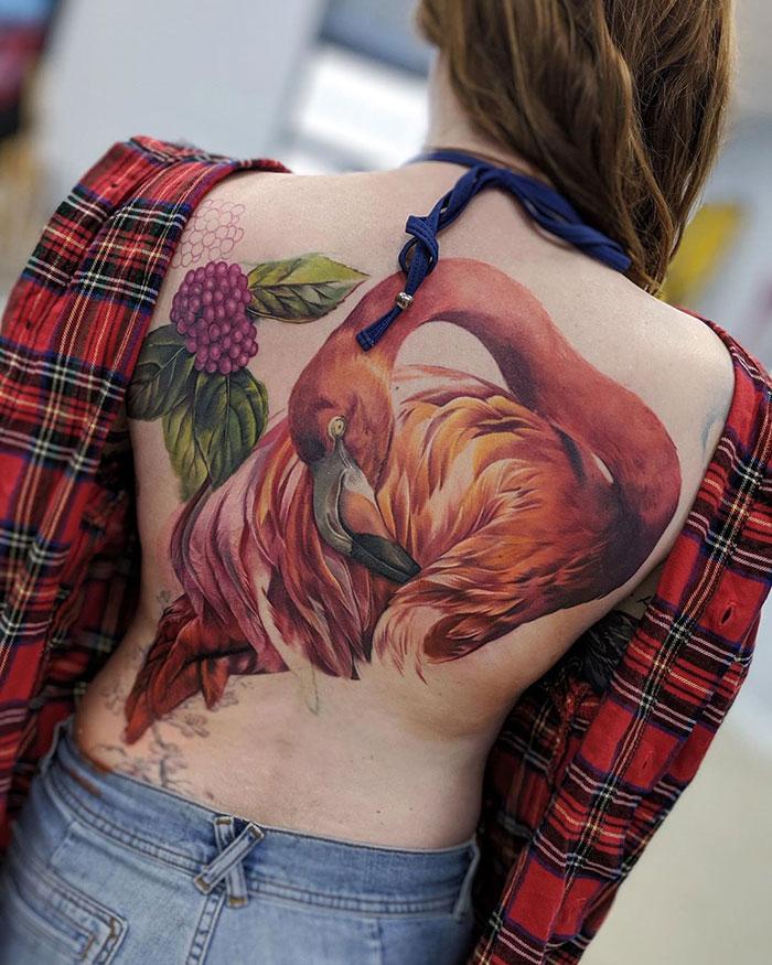 Stunning Flamingo Tattoo