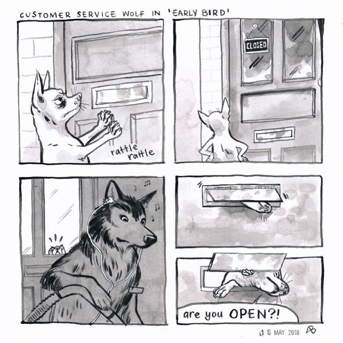 28 Relatable 'Customer Service Wolf' Comics For Anyone Who Knows The Joys And Pains Of Working In Customer Service (New Pics)