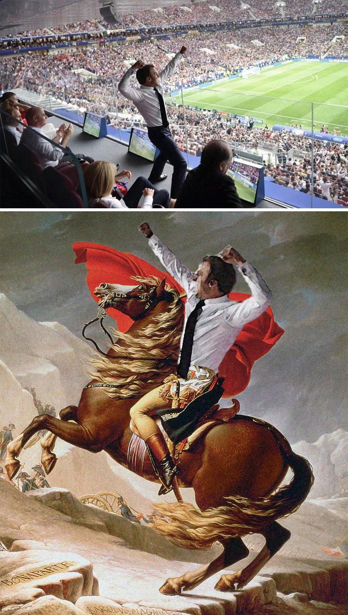 French President Celebrating