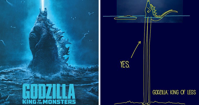 Artist Hilariously Illustrates 10 Ways In Which Godzilla Was Able To Stand In A 12.100ft Deep Ocean
