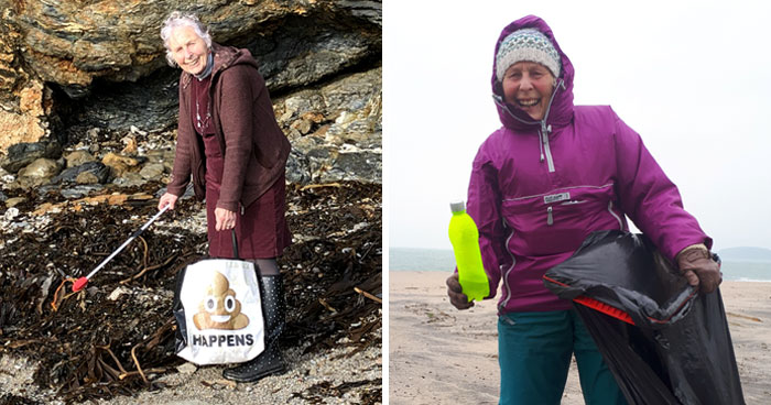 70-Year-Old Grandma Cleans 52 Beaches In One Year After Watching A Documentary About Plastic Pollution