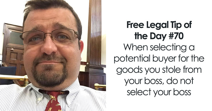Lawyer Posts Hilarious Legal Advice Based On Crazy Things He's Seen In Over 20 Years Of Experience (30 New Pics)