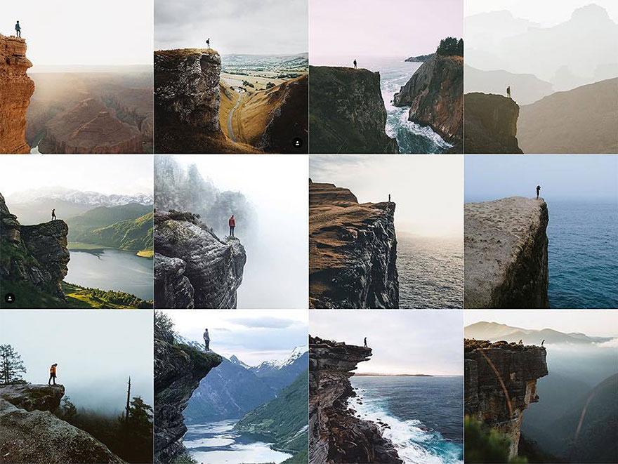 Person At The Edge Of A Cliff