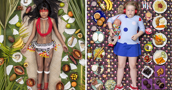 25 Kids From Around The World Photographed With What They Eat In One Week