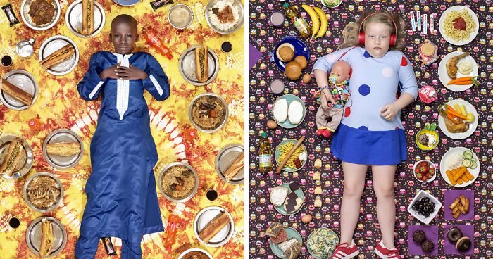 25 Kids From Around The World Photographed Surrounded By Their Weekly Diet