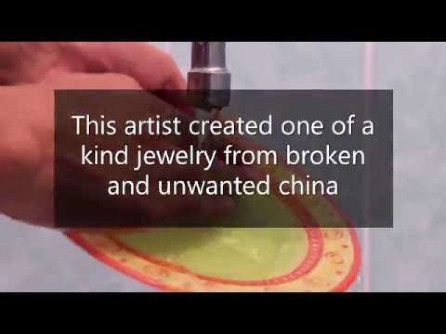 This Artist Created One Of A Kind Jewelry From Broken And Unwanted China