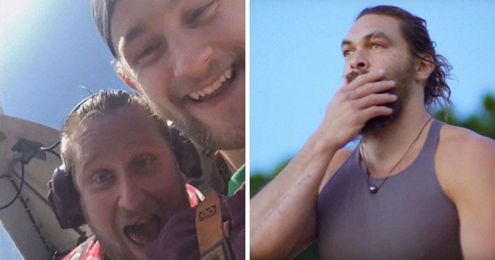 Se vuelve viral el mensaje de Jason Momoa a 2 pescadores que cortaron la cola de un tiburón y lo devolvieron al mar